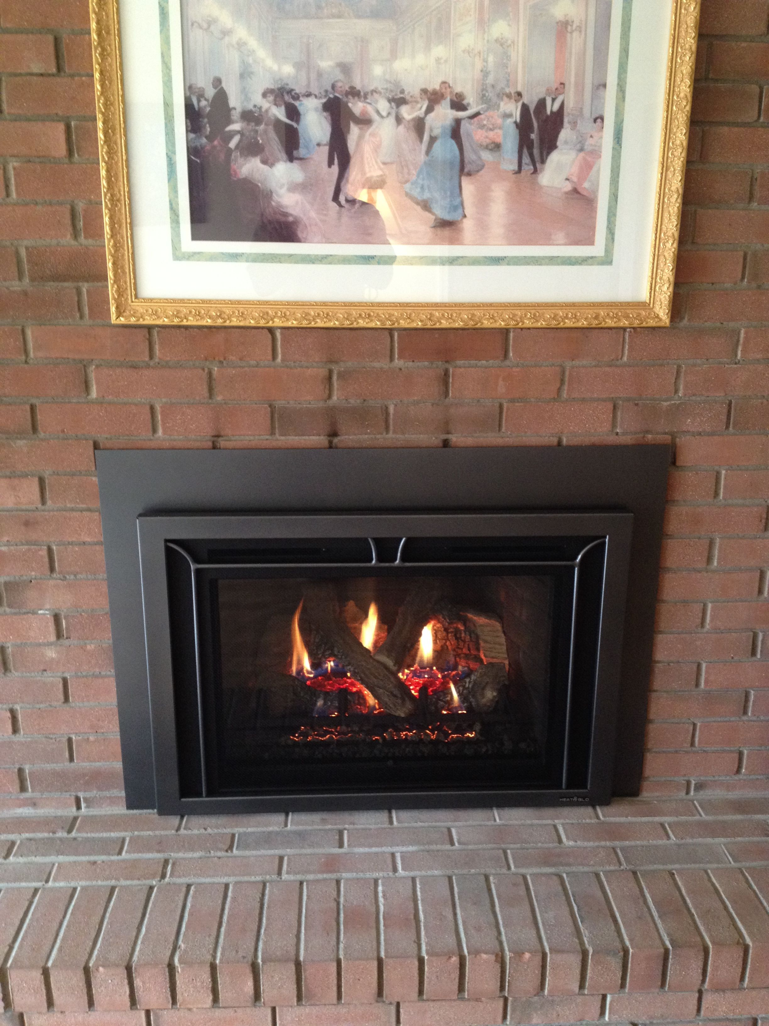 Gas fireplace and Fireplace surrounds