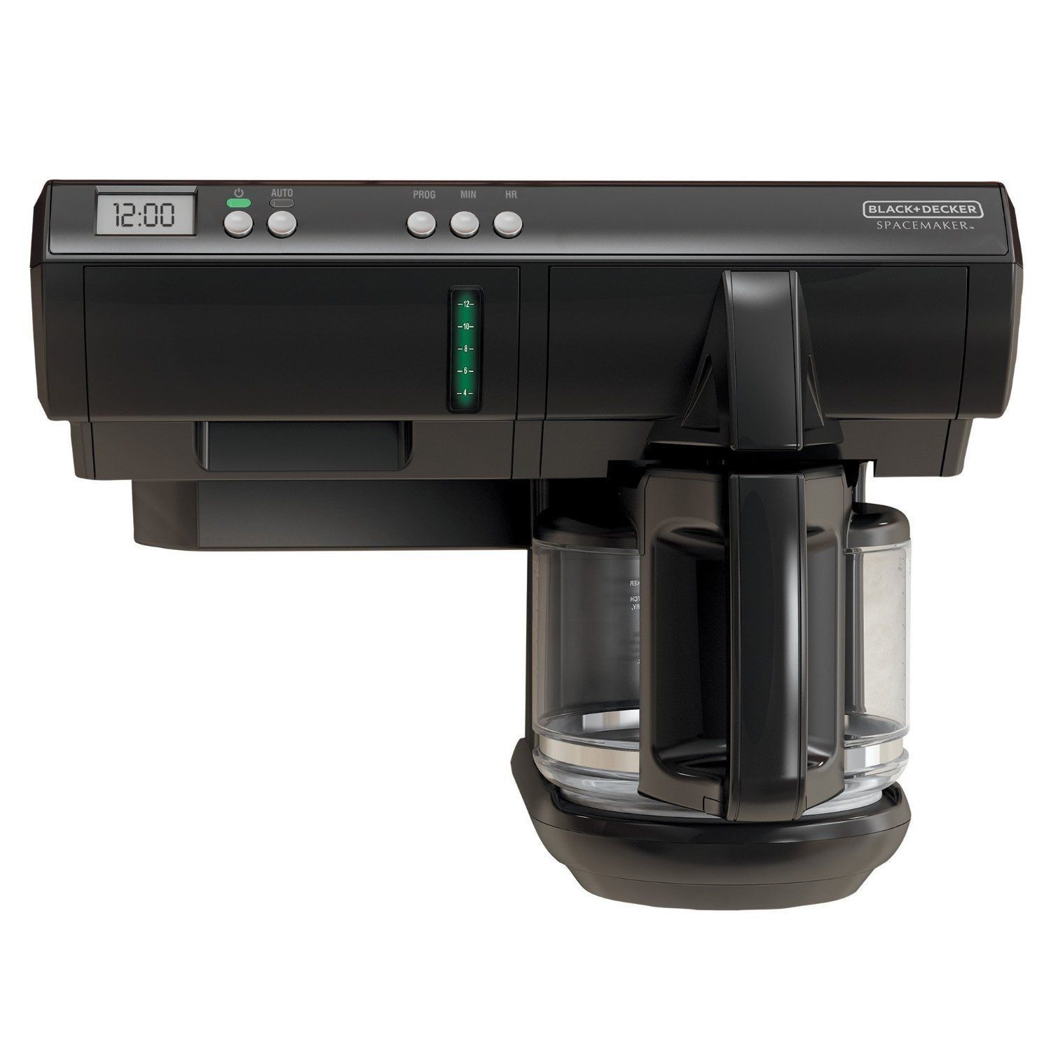 Black u decker black cup spacemaker programmable coffeemaker