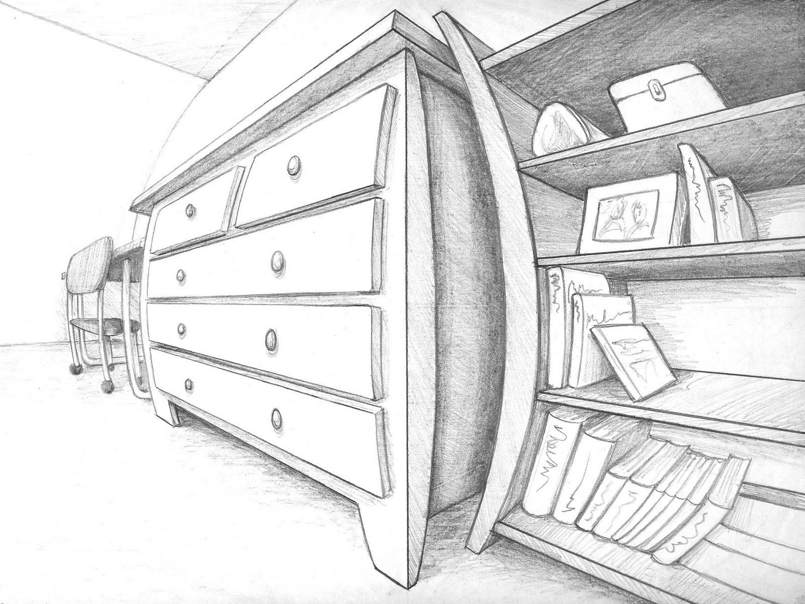 3 4 5 pt persp Four Point Perspective Art   A brief