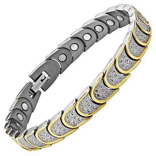Willis Judd Womens Four Element Titanium Magnetic Bracelet with Free Link Removal Tool and Gift Box NpZpN