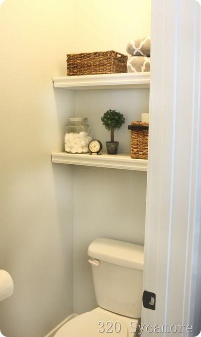 Easy Shelves Above Toilet Shelves Above Toilet Small Toilet Room Toilet Shelves