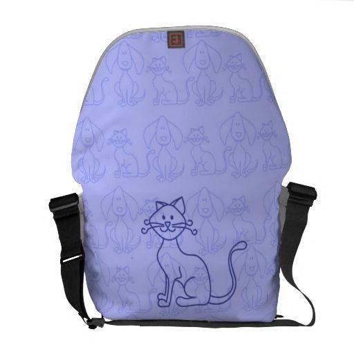 Purple Cat Commuter Bag by Designs_by_Alex