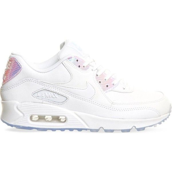 NIKE Air max 90 leather trainers ($140) ❤ liked on Polyvore
