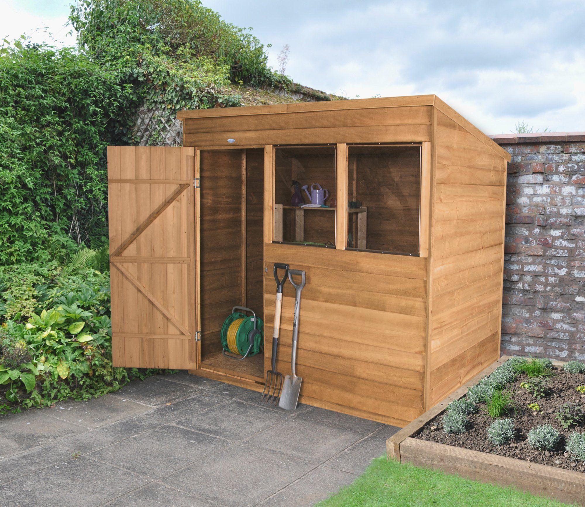 7 x 5 overlap dip treated pent shed