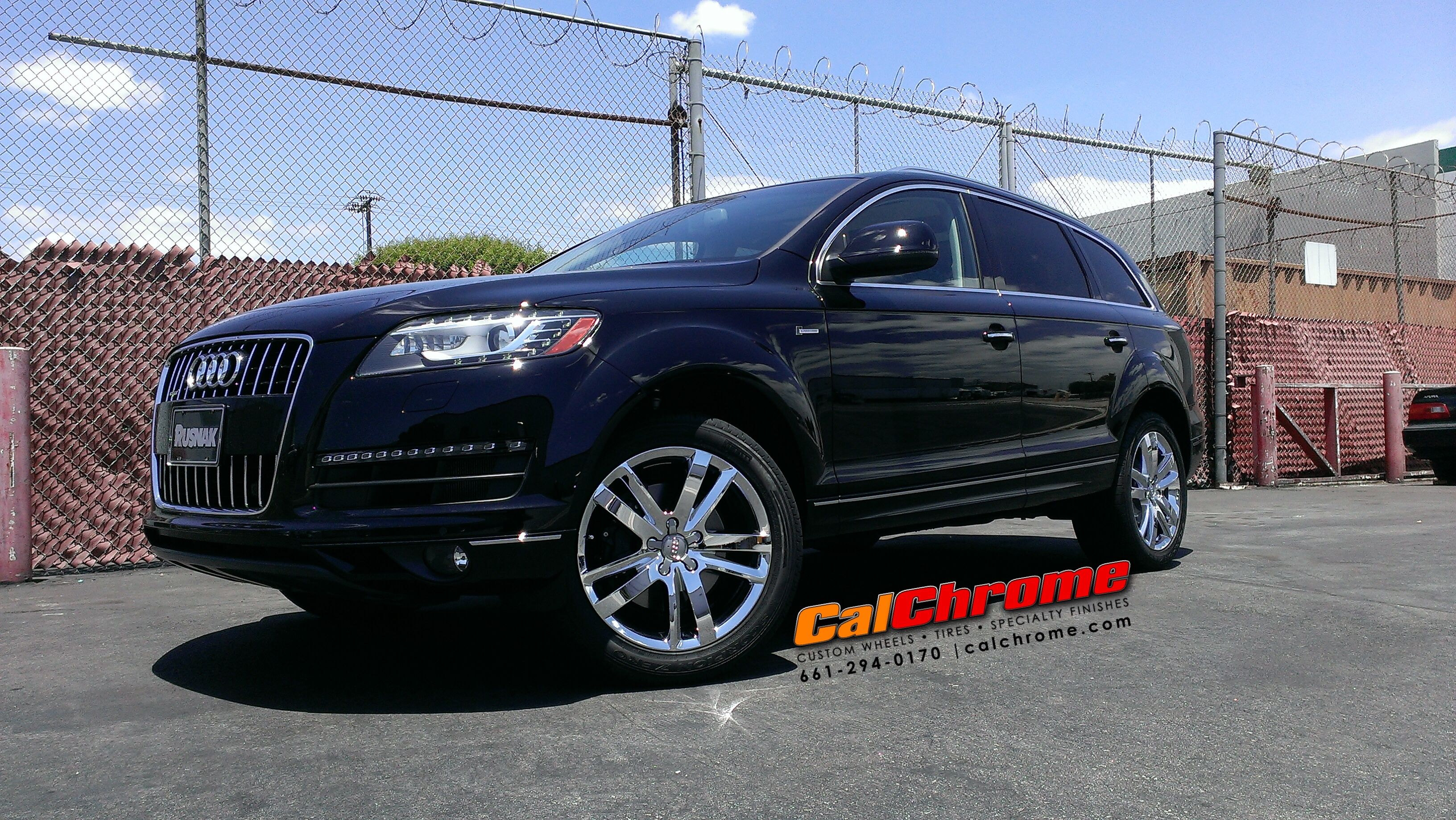 Audi Q7 With 19 Chrome Plated Wheels Chromemywheels