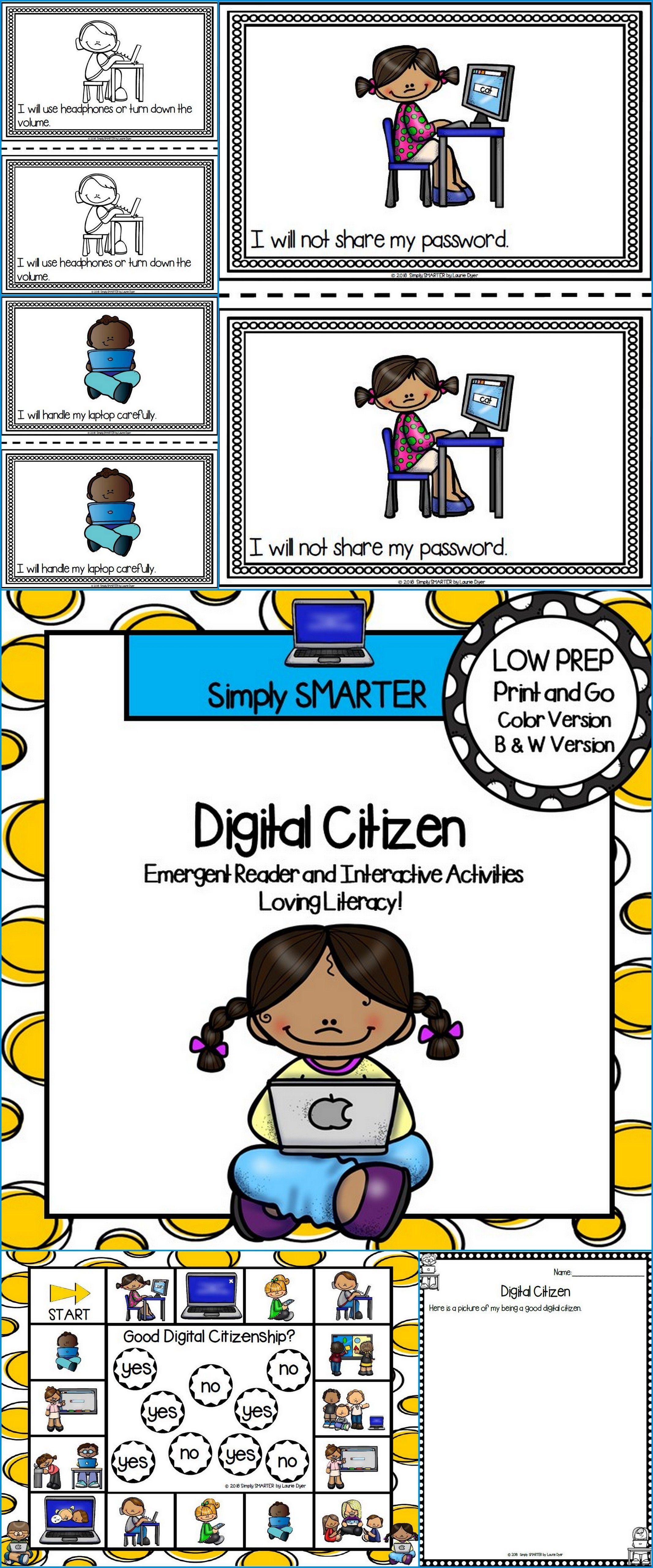 Digital Citizen Emergent Reader Book And Interactive