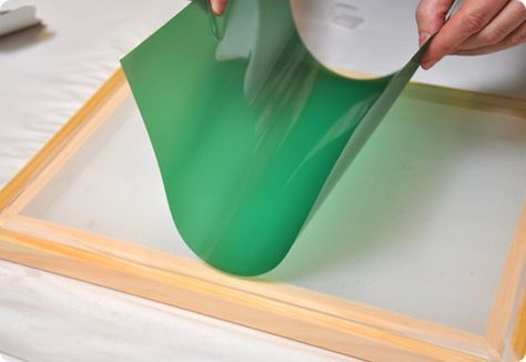 Screen Printing With Photo Emulsion Sheets Screen Printing