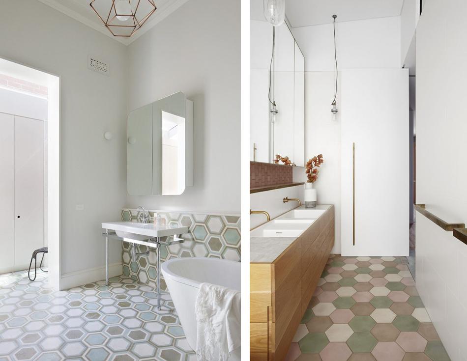 La fabrique d co choisir un carrelage original pour sa salle de bain sdb carrelage salle - Carrelage colore salle de bain ...