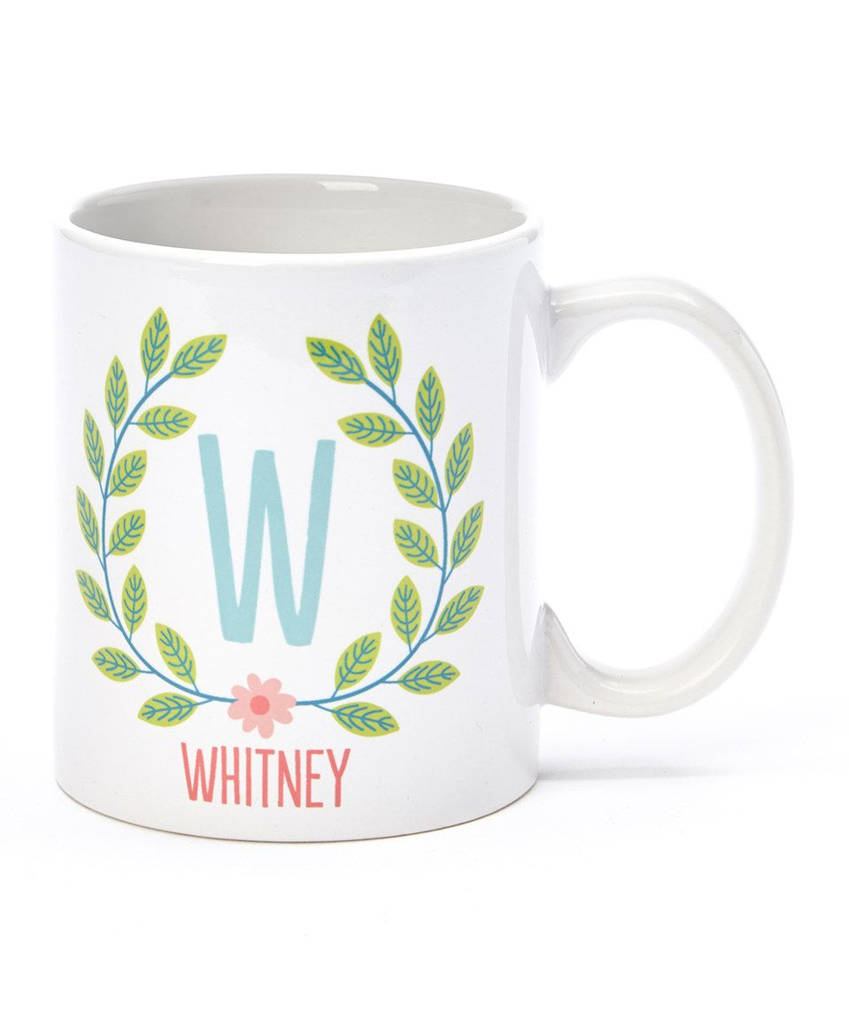 Love this Leaf Wreath Personalized Mug by Tickled Teal on #zulily! #zulilyfinds