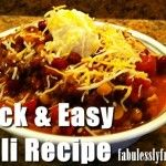 10 Can Chili Recipe. Quick, easy chili, makes double batch for leftovers or a freezer meal!