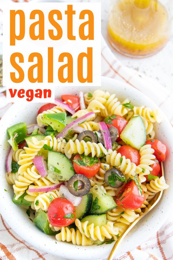 Vegan Italian Pasta Salad Plant Well Recipe In 2020 Easy Homemade Pasta Quick Healthy Lunch Vegan Pasta Recipes