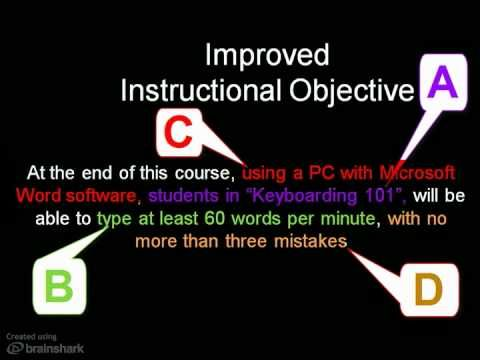 ▷ Writing Learning Objectives - YouTube Visible Learning - objectives for jobs