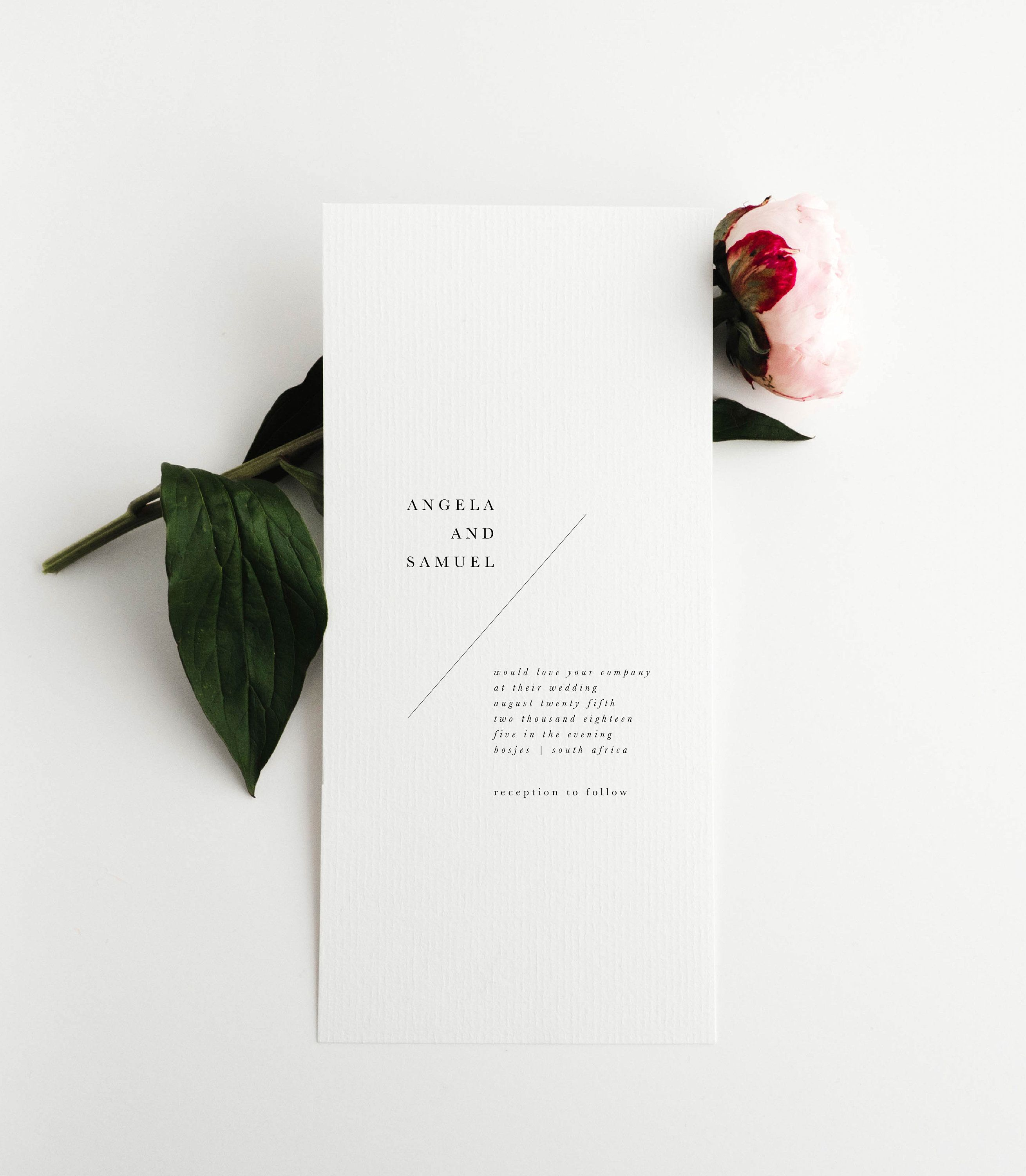 Simple Wedding Invitation | Modern Wedding Invitation