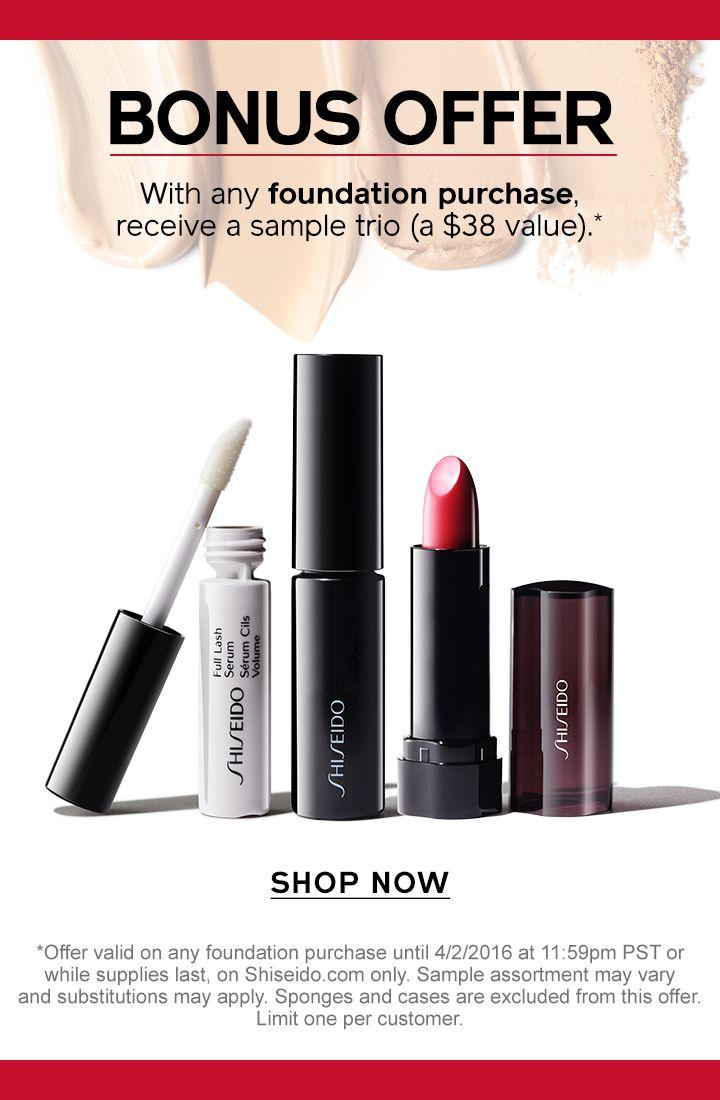 shiseido special offer
