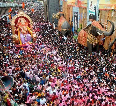 Mumbai Ganesh Chaturthi Indian Festival Ganeshchaturthi