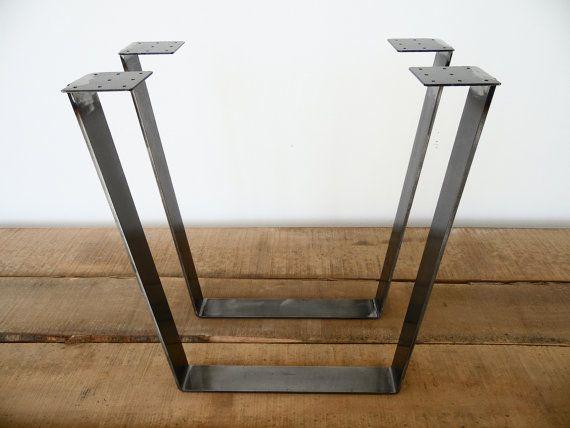 28 Trapez Tisch Beine FLACHSTAHL Hhe 26 32 SET2 Von Balasagun