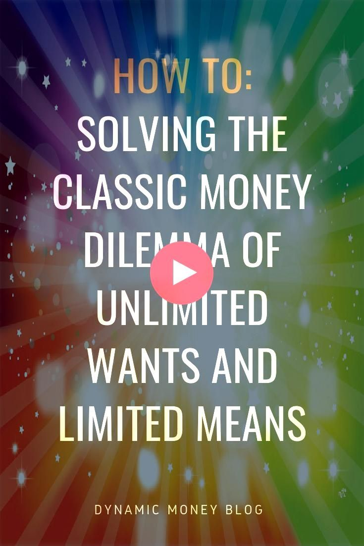 the Classic Money Dilemma of Unlimited Wants and Limited Means  Financi Solving the Classic Money Dilemma of Unlimited Wants and Limited Means  Financi  Solving the Class...