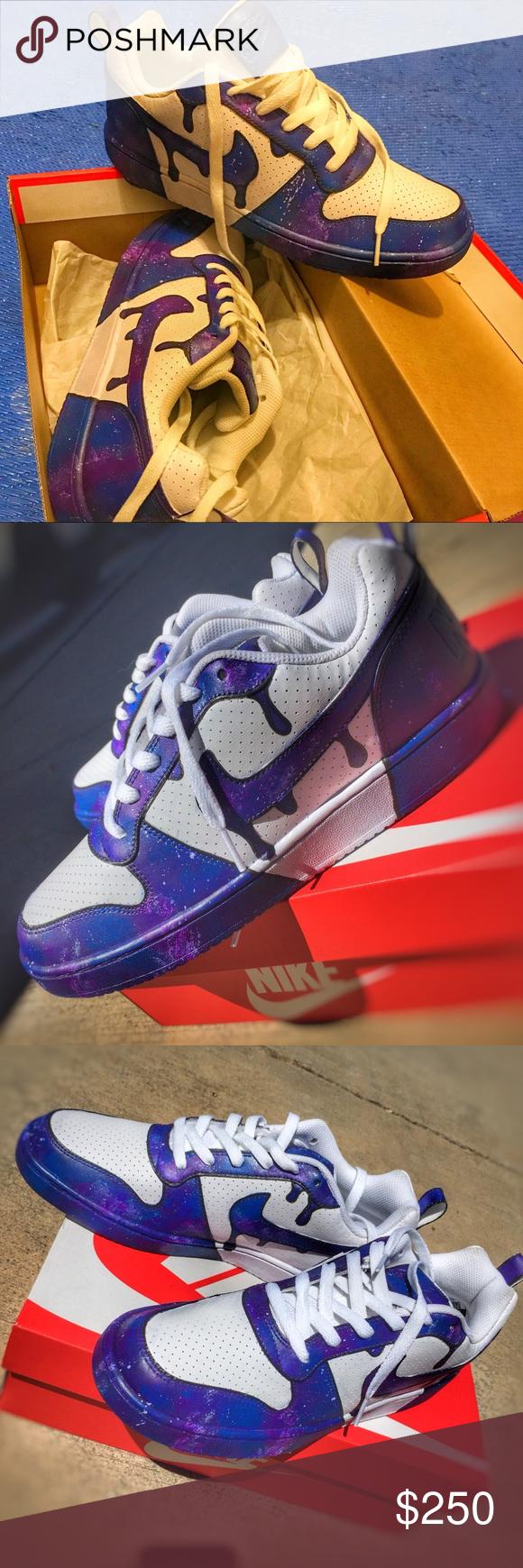 Nike court borough low, custom galaxy