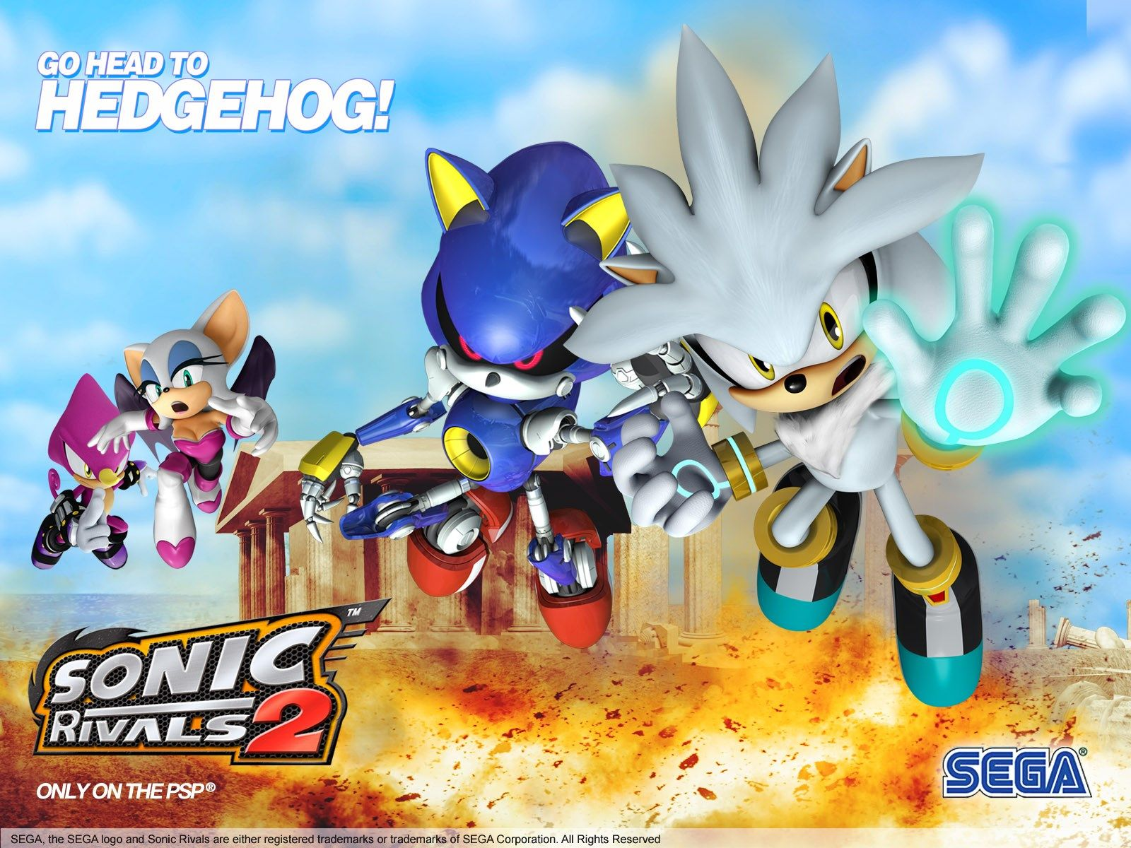 widescreen wallpaper sonic rivals 2, 395 kB Princeton