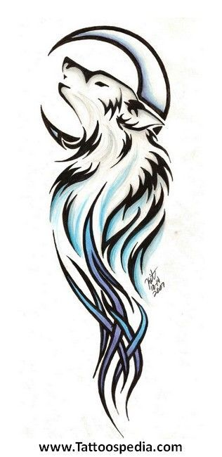 Image Result For Wolf Howling Tattoo Meaning Tribal Wolf Tattoo Small Wolf Tattoo Tribal Drawings