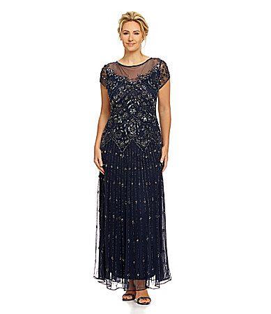 Pisarro Nights Woman Beaded Illusion Gown #Dillards ...