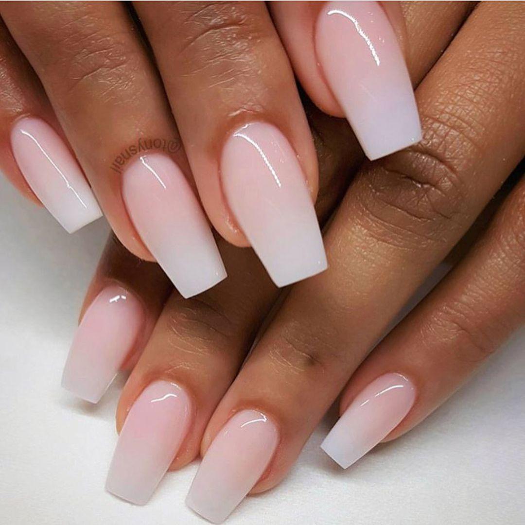 Ombre pink nails,Pretty pink glitter nails #nailart #nails