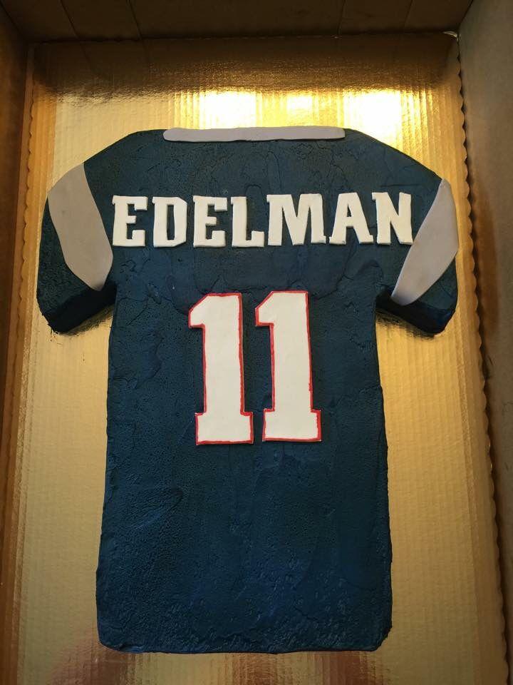 New England Patriots Julian Edelman Jersey Cake 10th Birthday Cakes For Boys Football Birthday 10 Birthday Cake