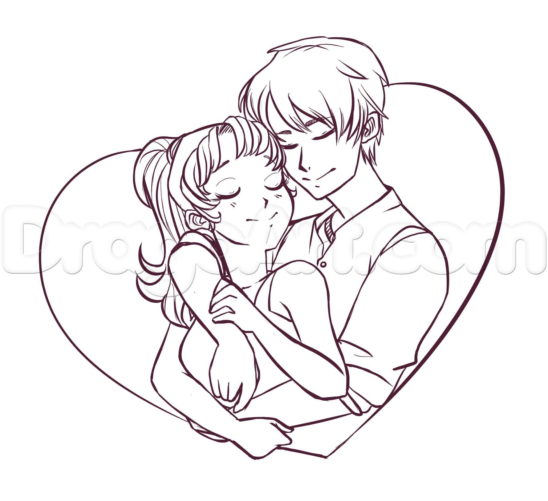 Cute Couple Cartoon Couples Drawings Couple Drawings Hugging Drawing