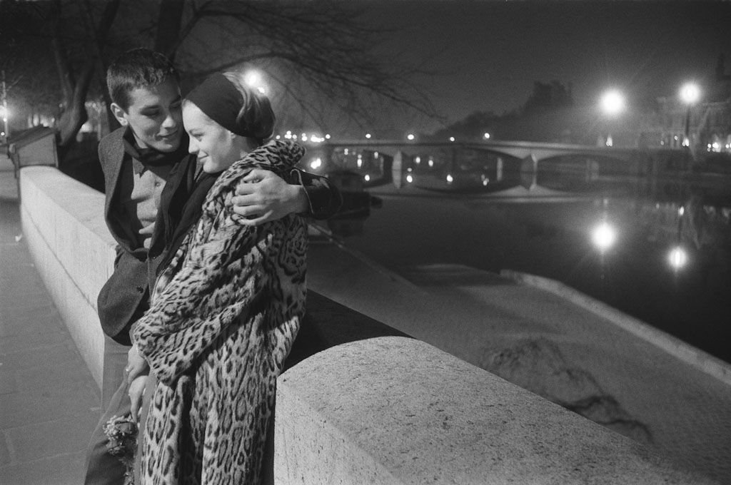 Maurice Jarnoux Romy Schneider And Alain Delon Paris 1961 With