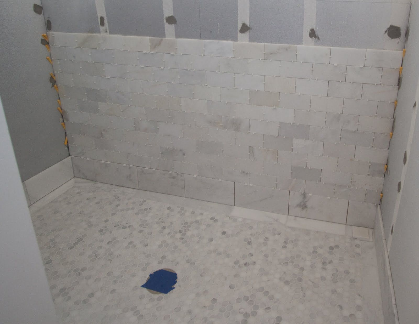 white carrera marble slab shower | we used statuary white marble ...