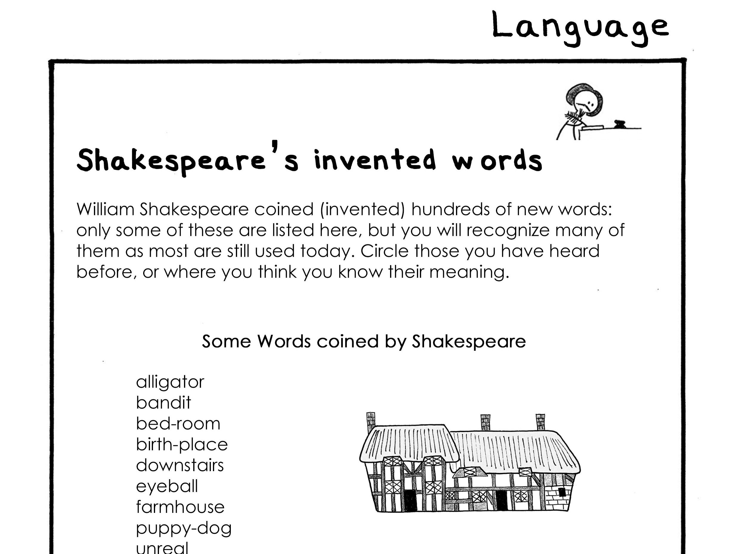 Shakespeare S Invented Words A2