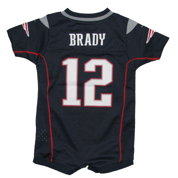 Newborn Tom Brady Romper-Navy  Patriots  8280ccf46