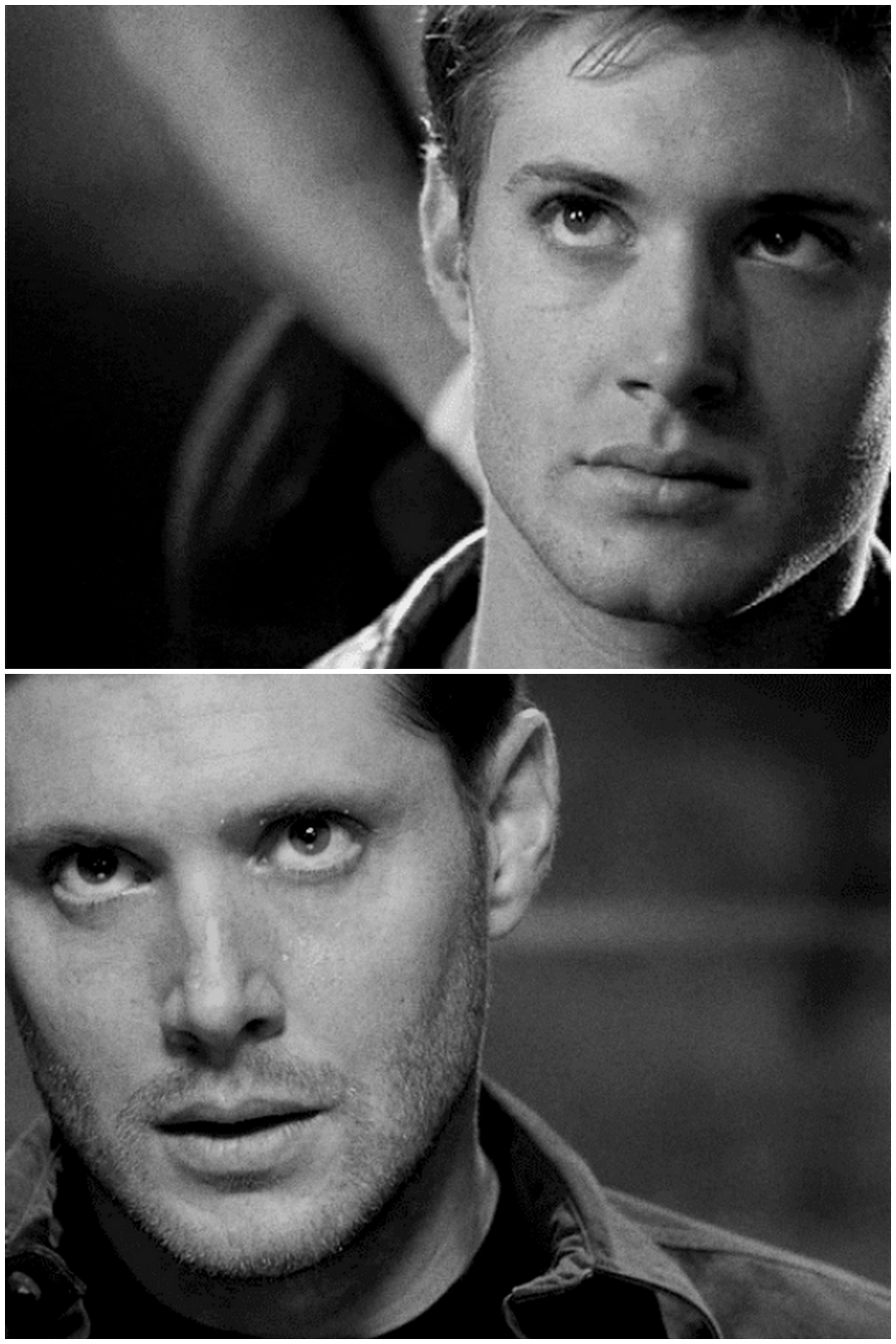Jensen as Alec McDowell, Dark Angel, 2001 and as Dean Winchester, 2014 [gifset] omyfuckingod