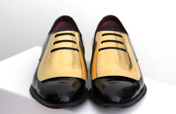 Céline gold-plated brogues