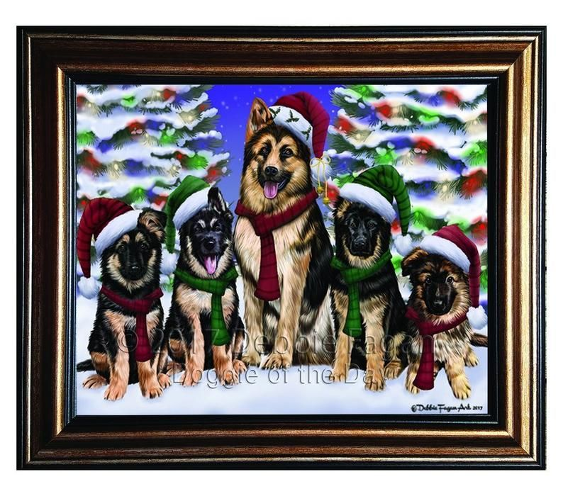 Cats Christmas Santa Express Delivery Red Truck canvas Dogs Pet photo canvas