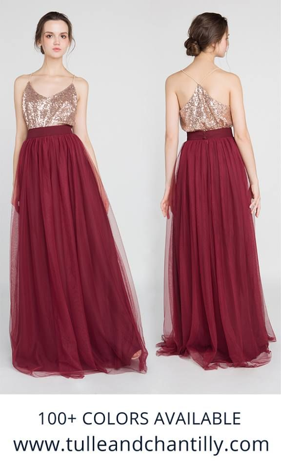 Rose Gold Wine Bridesmaid Dress Combo Does It Get Any More Perfect Burgundy Bridesmaid Dresses Bridesmaid Separates Burgundy Bridesmaid