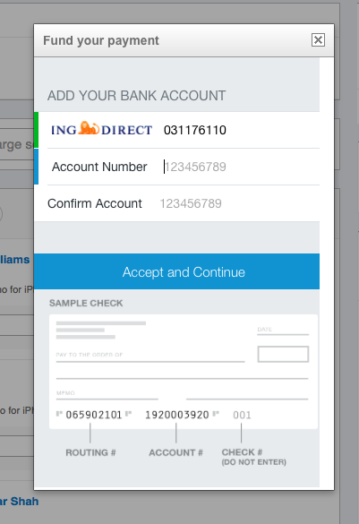 Love How Venmo Recognizes My Bank From The Routing Number Learn Ux Design Learning Ux Design