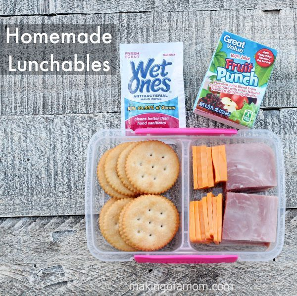 Non-Sandwich school lunch idea - homemade lunchable! Plus other yummy school lunch ideas.