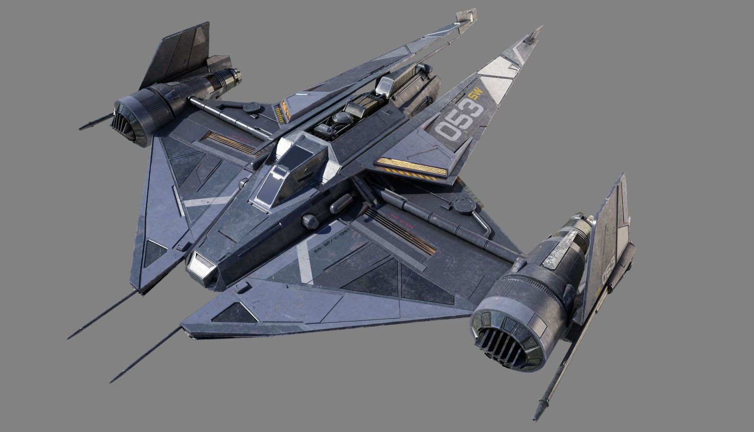 45$ 3D model 'Space Fighter' by robotize. 3d space fighter ...