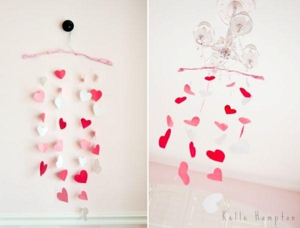 Deko ideen valentinstag herzen kronleuchter girlande for Deko ideen valentinstag