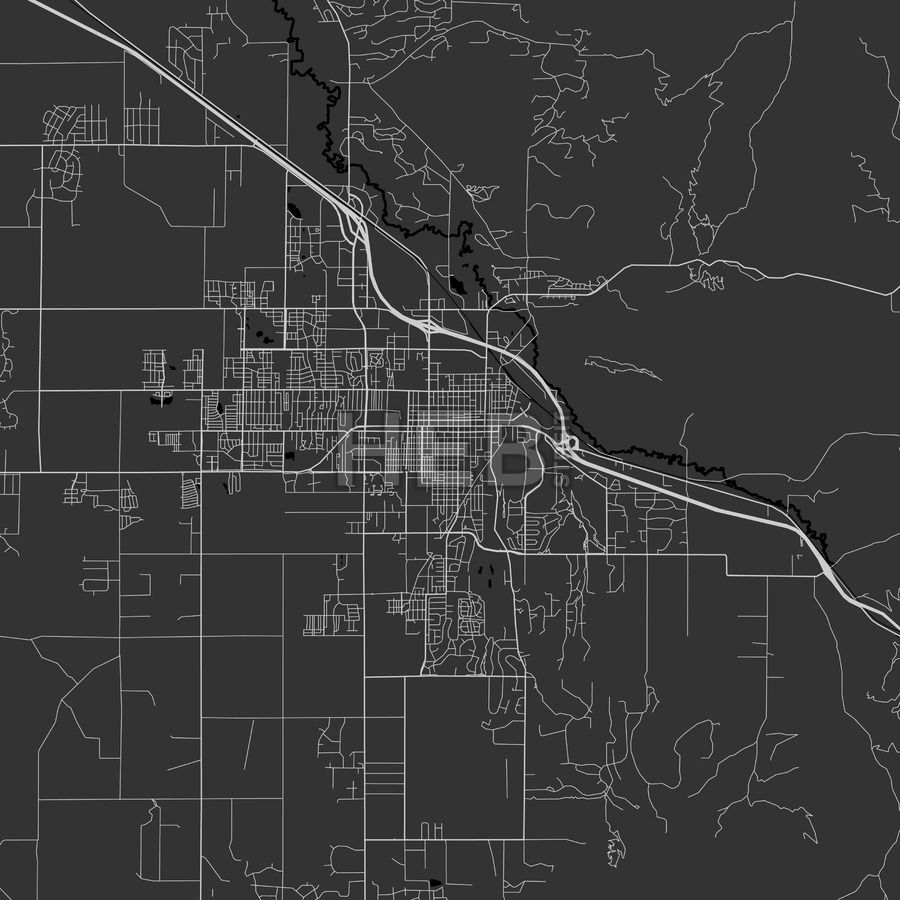 Bozeman, Montana - Area Map - Dark | Maps Vector Downloads on zoom map of texas, atlas of montana, zoom in map, zoom map of united states,