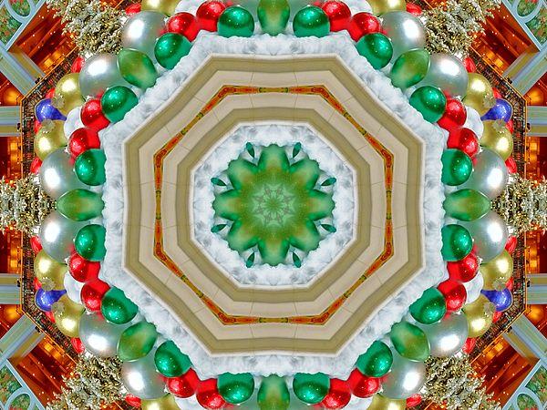 This kaleidoscopic art image originated as my \