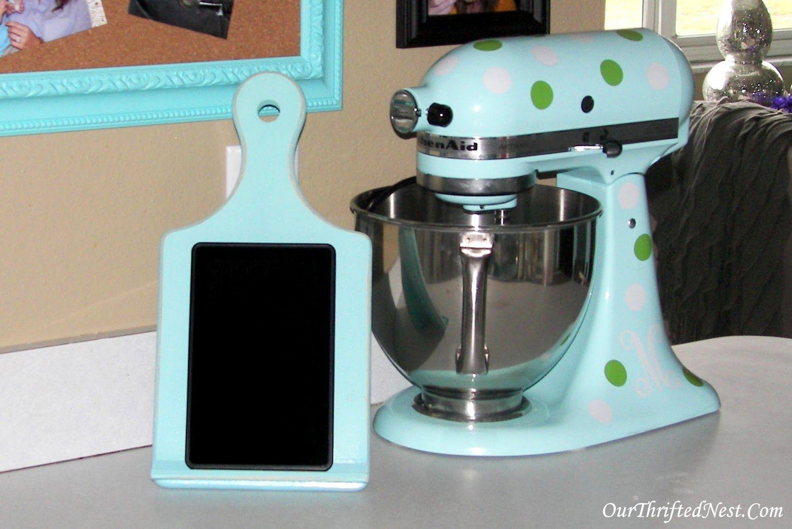 Our thrifted nest diy kitchen tablet holder diy pinterest