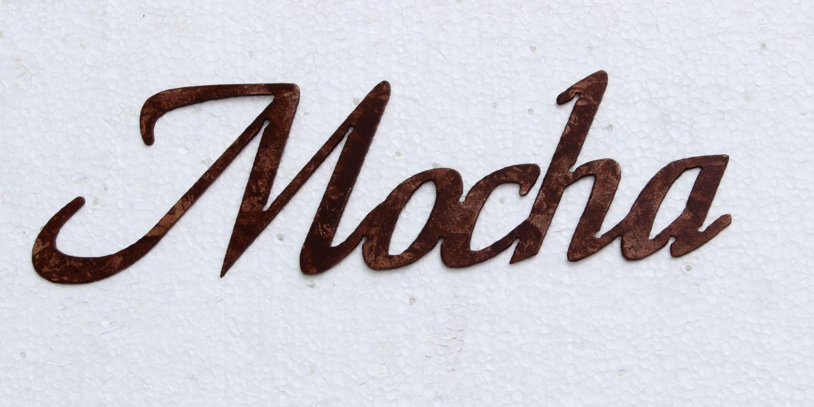 Mocha Coffee Word Metal Wall Art Kitchen Home Decor   Pinterest ...