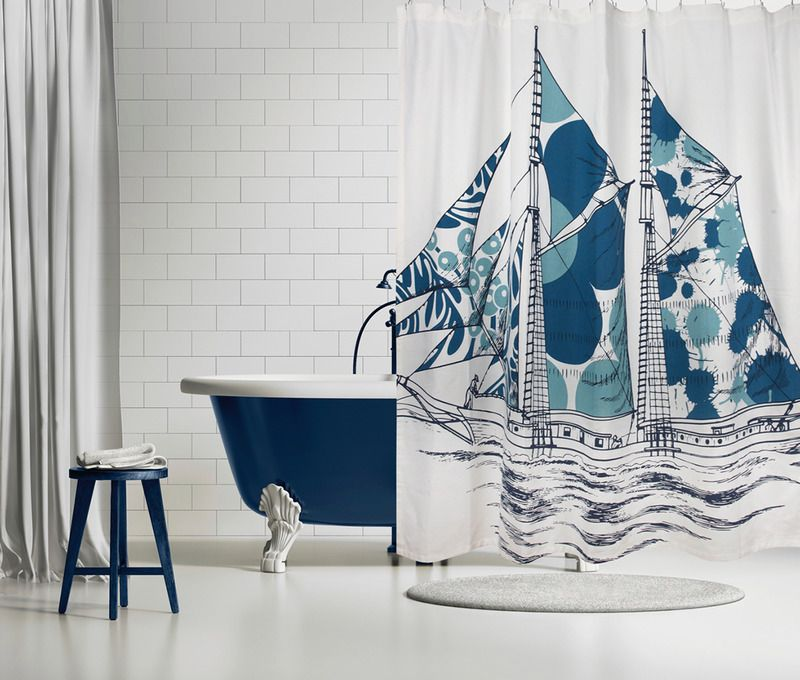 Dazzle Ship Shower Curtain Peacock Deer Shower Curtain Curtains