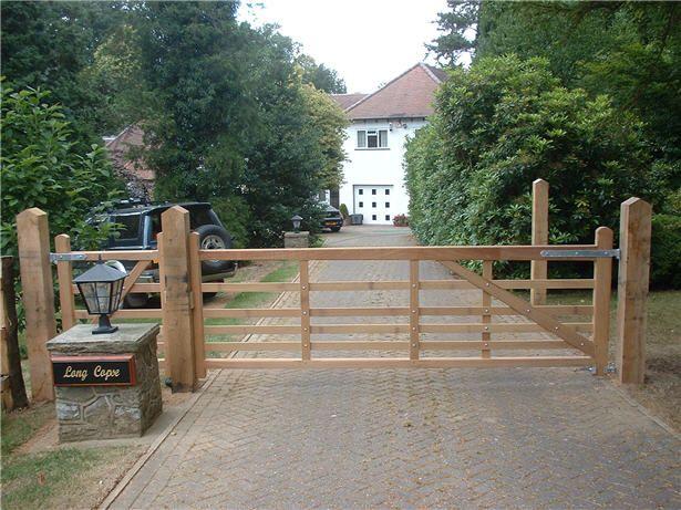 Res Wooden Gates: (RES) 5 BAR GATES - GKW - Wrought Iron Kent