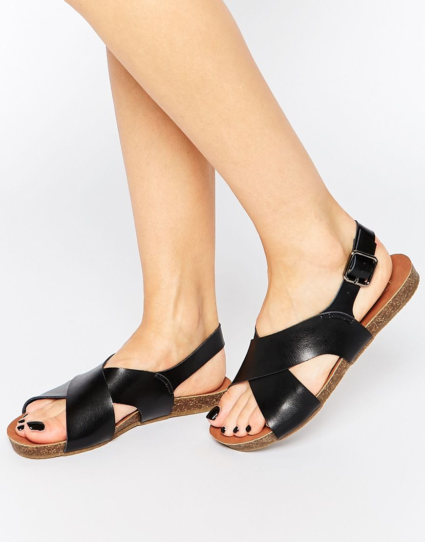 Image 1 of Truffle Collection Savi Cross Strap Flat Sandals