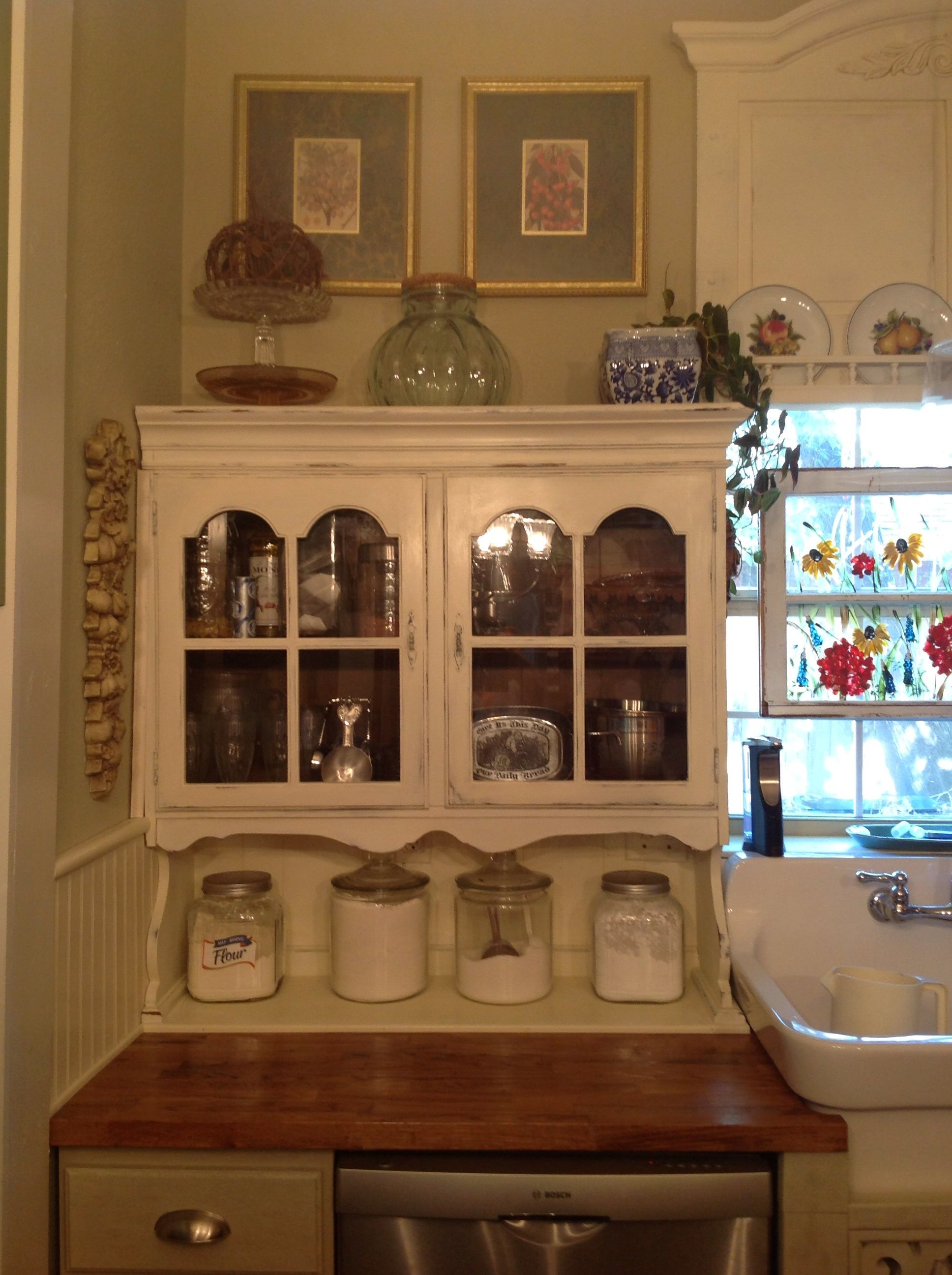 20 Hutch Top Repurposed To A Cabinet Hutch Top Found On