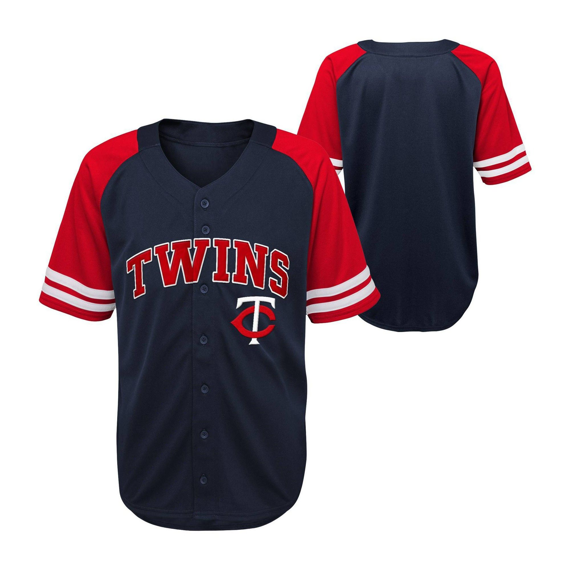 Mlb Minnesota Twins Button Down Jersey 18m In 2020 Atlanta Braves Outfit Atlanta Braves Minnesota Twins