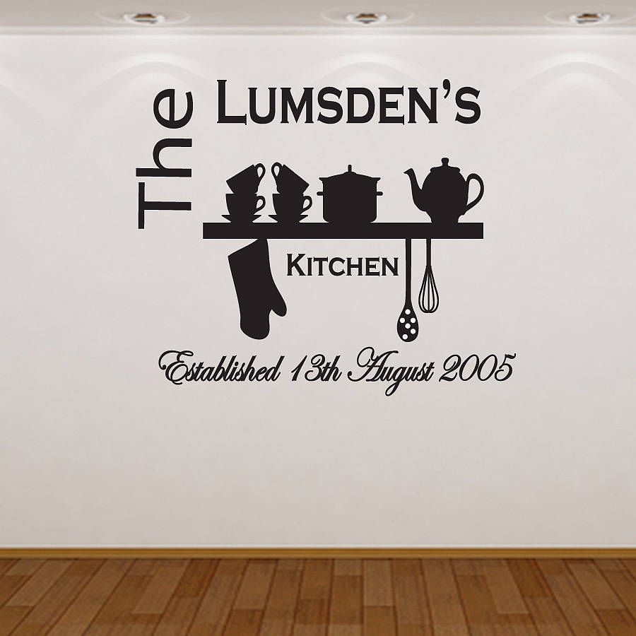 Original Personalised Kitchen Wall Sticker gifts Pinterest